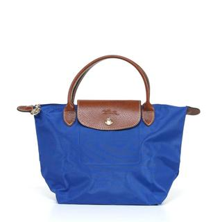 Longchamp 'Le Pliage' Small Indigo Handbag