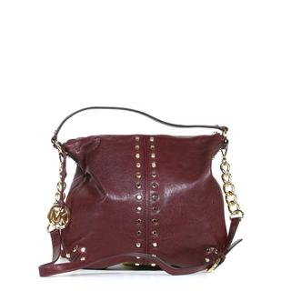 Michael Kors 'NS Uptown Astor' Bordeaux Leather Shoulder Bag