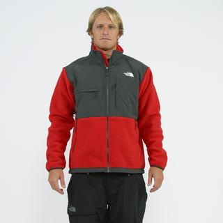 north face men 39 s 39 denali 39 red grey jacket overstock shopping