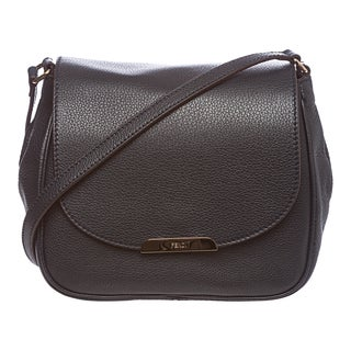 Fendi Navy Pebbled Leather Crossbody Bag