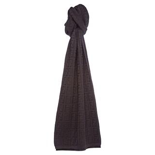 Fendi Grey Zucca Knit Wool Scarf