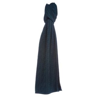 Fendi Teal Zucca Knit Wool Scarf