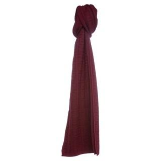 Fendi Bordeaux Zucca Knit Wool Scarf