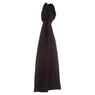 Fendi Black/ Brown Zucca Knit Wool Scarf