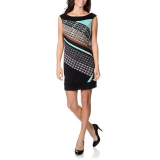 London Times Petite Women's Printed Shift Dress