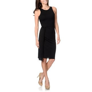 Halston Heritage Women's Crystal Pleat Dress