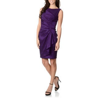 London Times Women's Taffeta Cocktail Dress