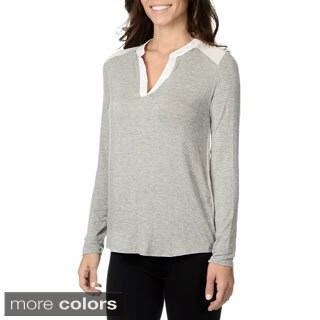 Olive & Oak Women's Knit to Woven Top