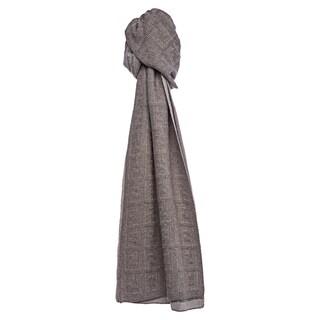 Fendi Taupe Zucca Knit Wool Scarf
