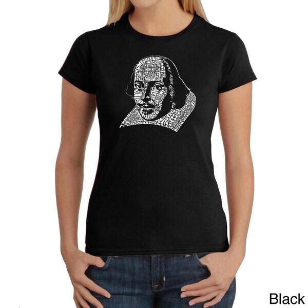 Los Angeles Pop Art Women's William Shakespeare T-shirt
