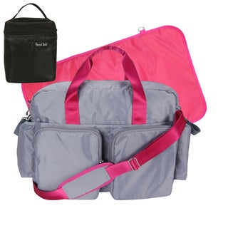 Trend Lab 4-piece Deluxe Dufflle and Bottle Bag Kit