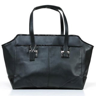 Coach Black Taylor Leather Alexis Carryall Handbag