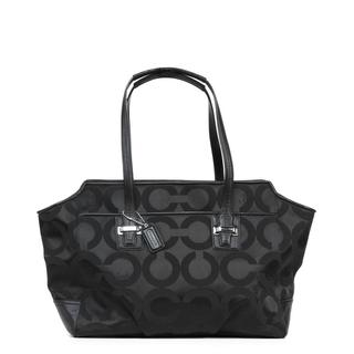 Coach Taylor Op Art 'Alexis' Black Carryall Handbag