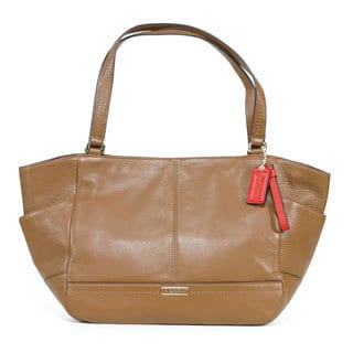 Coach 'Carrie' Brown Park Leather Handbag