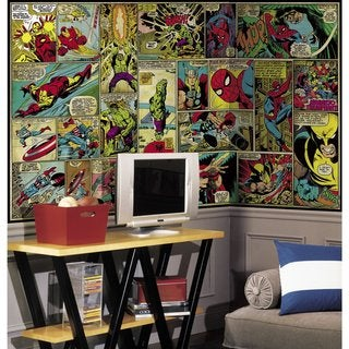Marvel Classics Comic Panel Mural (6'x10.5')