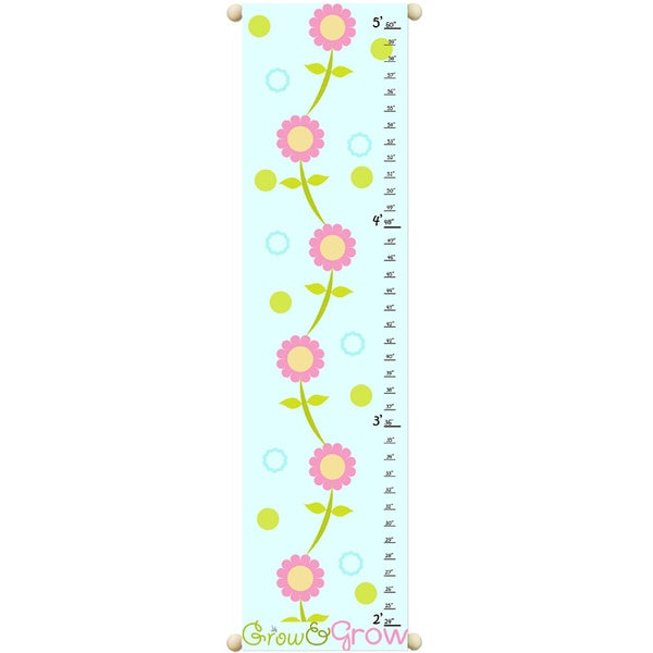Grow & Grow Children Canvas Growth Chart