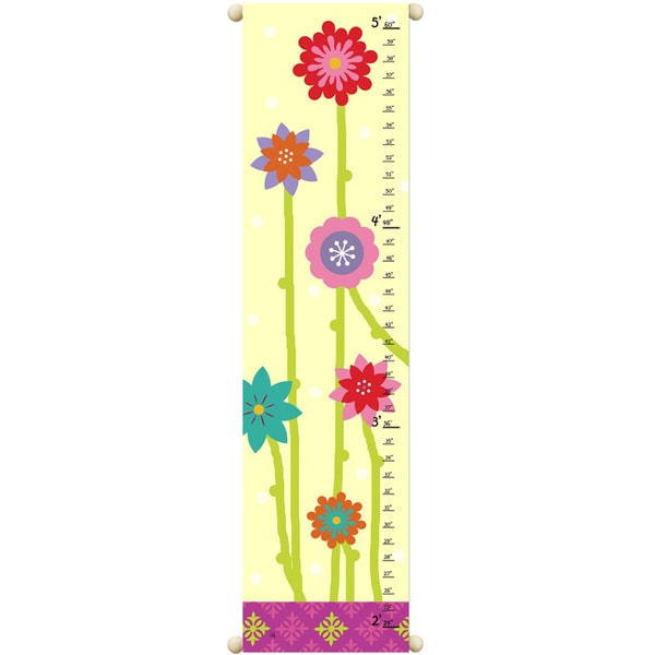 Great Garden Children Canvas Growth Chart
