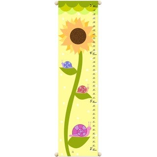 Sunflower & Snails Children Canvas Growth Chart