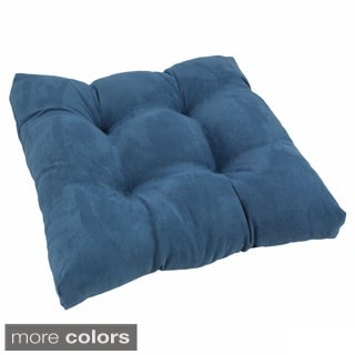 Square Tufted Microsuede Chair Cushion