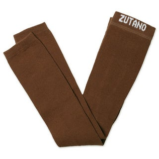 Zutano Girls Primary Solid Footless Tights in Brown