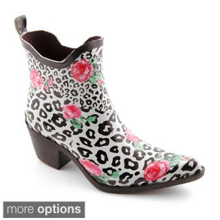 Corkys Women's 'Foxy' Printed Rubber Ankle Boots