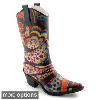 Corkys Women's 'Rodeo' Printed Western Rain Boots