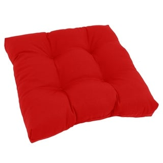 Square Tufted Twill Chair Cushion