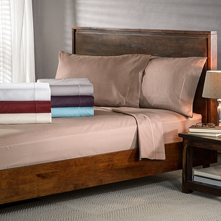 Micro-Checkered 800 Thread Count Olympic Queen Sheet Set