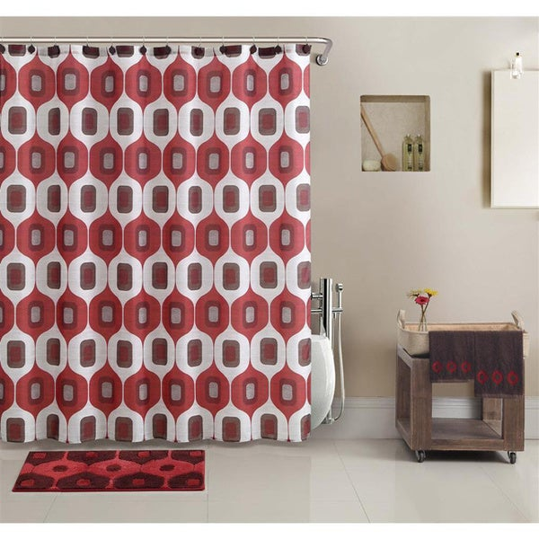 vcny tiberius shower curtain and bath accessory 17 piece set in a bag