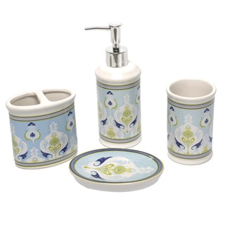Waverly Sea Scallop 4-piece Bath Accessory Set