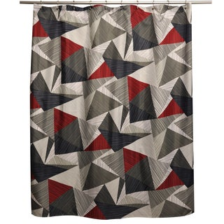 Striped Triangles Shower Curtain