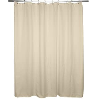 Beige Microfiber Shower Curtain Liner