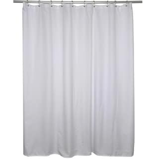White Microfiber Shower Curtain Liner
