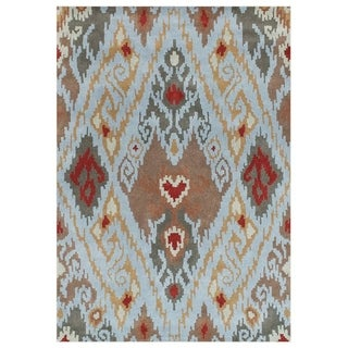Hand Made Cloud Blue New Zealand Blend Wool Rug (9' x 12')