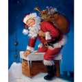 Here Comes Santa Christmas Holiday Print Art