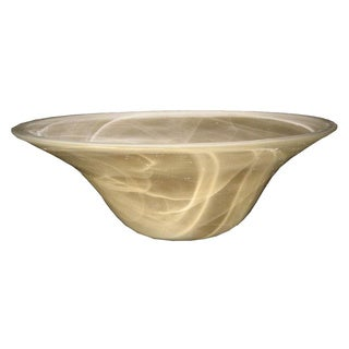 Champagn Swirl Finish Glass Torchiere Shade