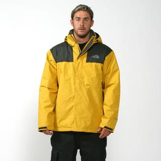 The North Face Men's 3 in 1 'Mountain Light' Leopard Yellow/ Asphalt Grey Insulated Jacket