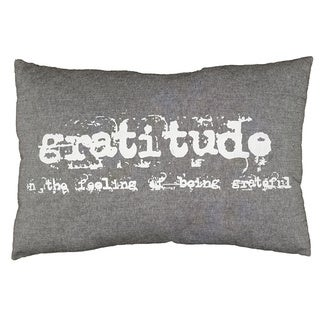 Gratitdue Grey 16 x 24 inch Accent Throw Pillow