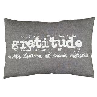 LNR Home Grey Gratitude 16 x 24 Accent Throw Pillow
