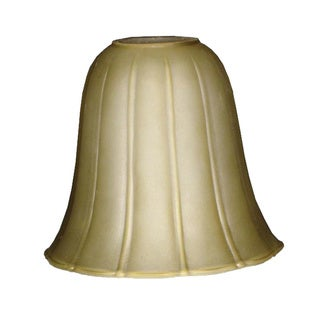 Cognac Finish Glass Bell Shade