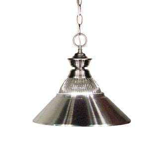 Z-Lite Brushed Nickel Matte 1-light Pendant