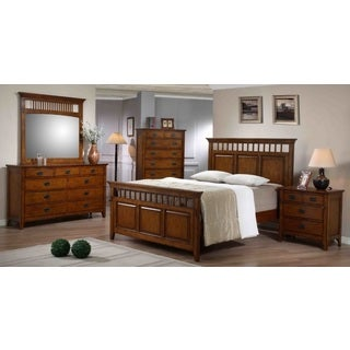 Tremont 5-piece Chestnut Finish Bedroom Set