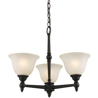 Z-Lite Bronze-finish 3-light Chandelier