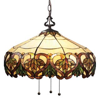 Z-Lite 3-light Antique-style Glass Pendant