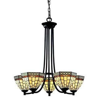 Z-Lite Stained-glass 5-light Chandelier