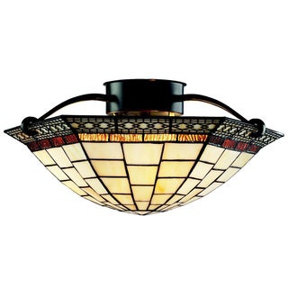 Z-Lite 3-light Arched Semi-flush Mount