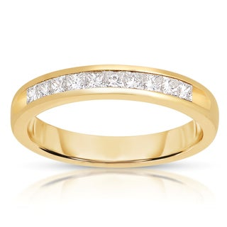 14k Yellow Gold 1/2ct TWD Ladies Diamond Band (G-H, I1-I2)