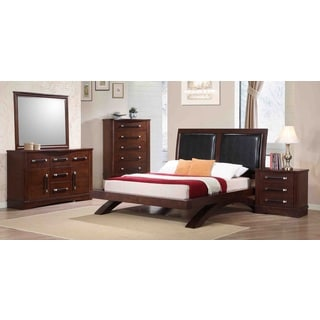 Padova 5-piece Brown Bedroom Set