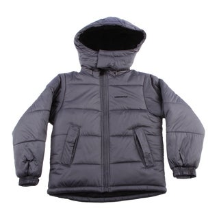 London Fog Boys 8-16 Faux Fur Lining Grey Jacket