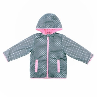 Carters Girl's 4-6X Grey Dot Print Jacket